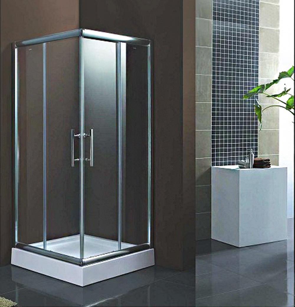 Duschabtrennung echtglas inkl duschtasse duschkabine for Dusche ohne tasse