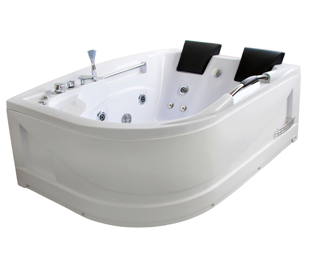 rondel whirlpool 180 x 120 cm f r 2 personen komplett badewanne eck sanit r ebay. Black Bedroom Furniture Sets. Home Design Ideas