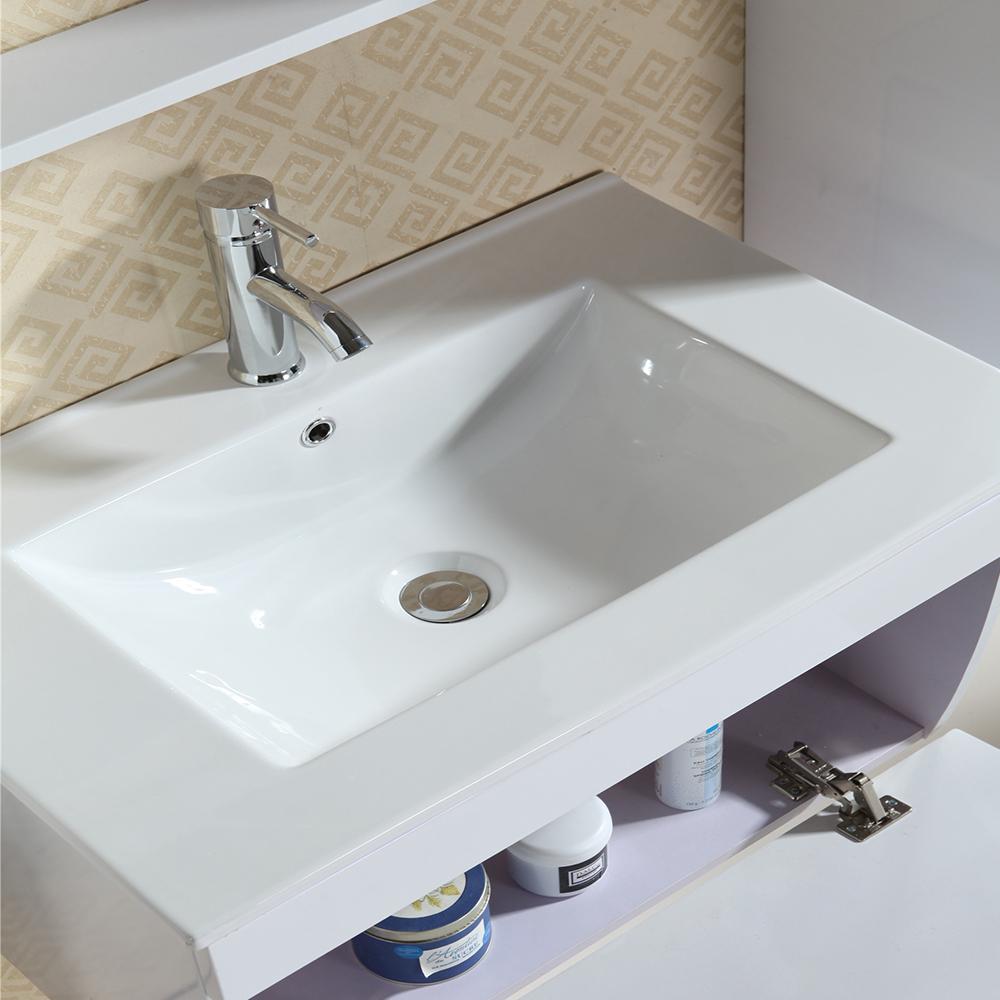 badezimmerm bel hochglanz wei waschtisch seitenschr ke led spiegel waschbecken ebay. Black Bedroom Furniture Sets. Home Design Ideas