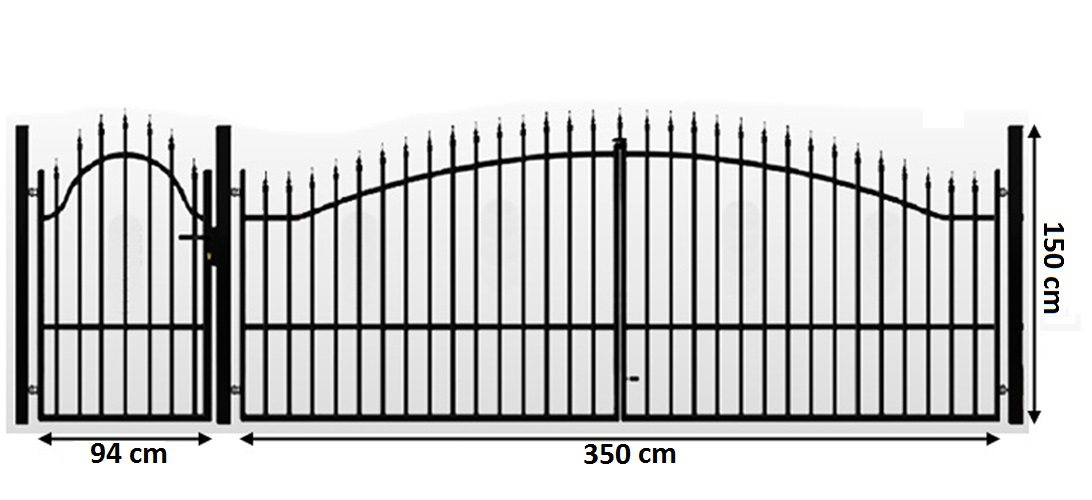011lb3 5m toreinfahrt e antrieb 350 cm inkl pforte 94 cm doppelfl geltor tor. Black Bedroom Furniture Sets. Home Design Ideas