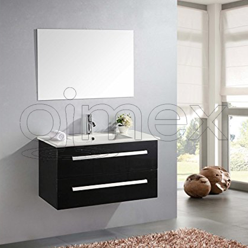 badm bel set hochglanz schwarz komplett waschtisch waschbecken schrank spiegel 752584349784 ebay. Black Bedroom Furniture Sets. Home Design Ideas